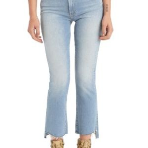 MOTHER The Insider Crop Step Fray Jeans NWT Sz 30